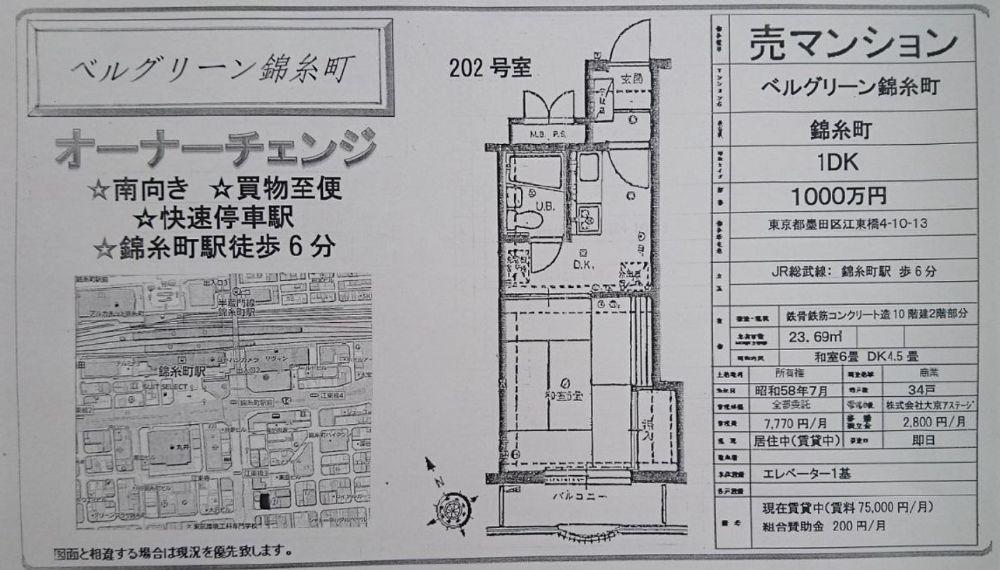 販賣圖:ベルグリーン錦糸町