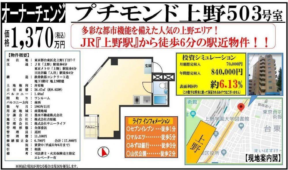 販賣圖:プチモンド上野