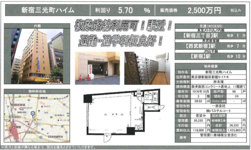 販賣圖:新宿三光町ハイム