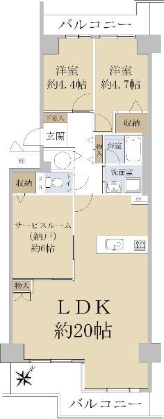 京橋グリーンハイツ 四号棟_6