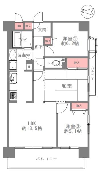 レックスマンション田辺_4