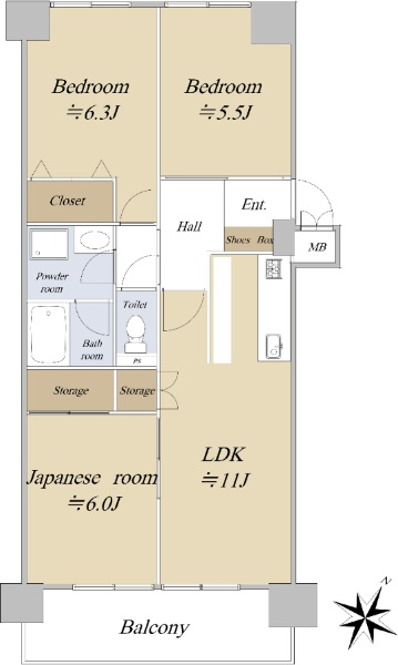 ライオンズマンション杁中ガーデン D棟_6
