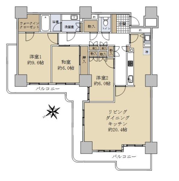 フォルム綱島クレスタワーズ弐番館_6