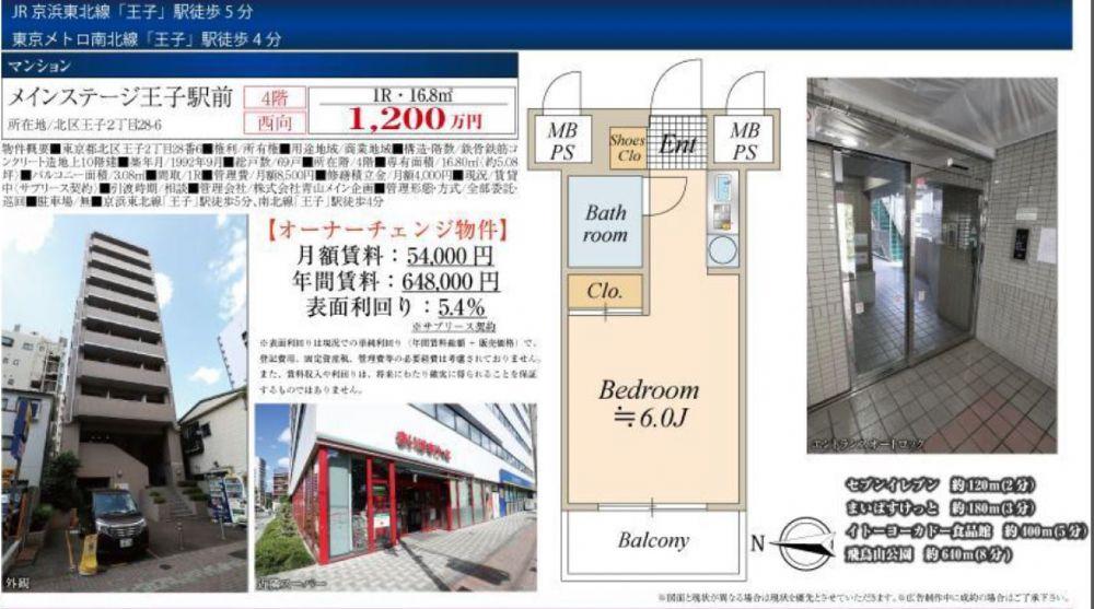 販賣圖:メインステージ王子駅前