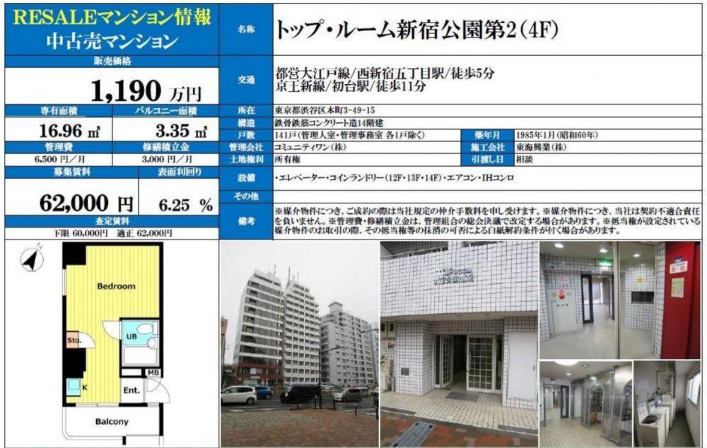 販賣圖:トップルーム新宿公園第2